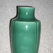 1928 Rookwood Pottery Art Deco Large Green Vase