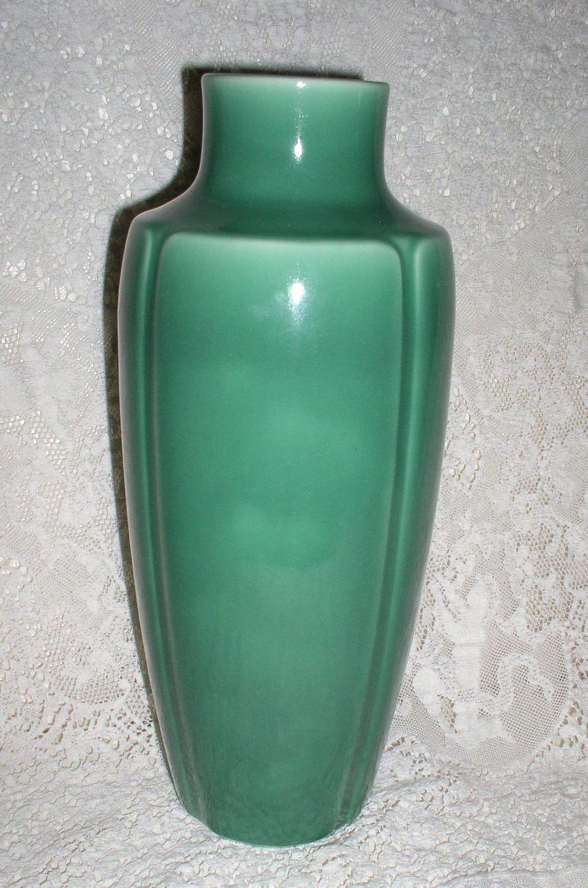 1928 Rookwood Pottery Art Deco Large Green Vase