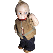 "1910 Limbach Germany 4"" Boy Bisque Doll in ORG/Clothes"