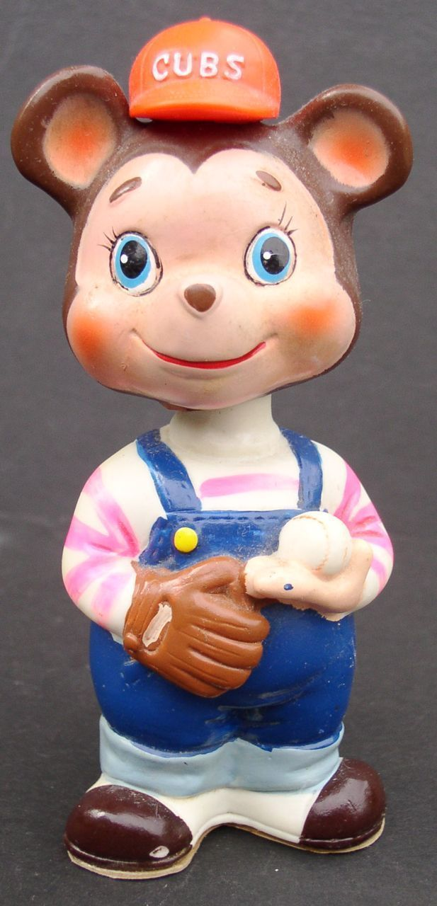 Baseball 1960s Chicago Cubs Wind-up Figural Toy Alps Japan