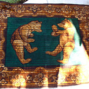 C. 1880s Teddy Bear Carriage/Sleigh Blanket