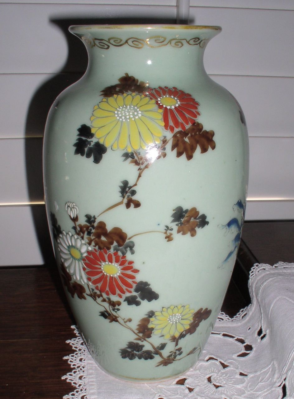 Antique Early Chinese Celadon Porcelain Vase