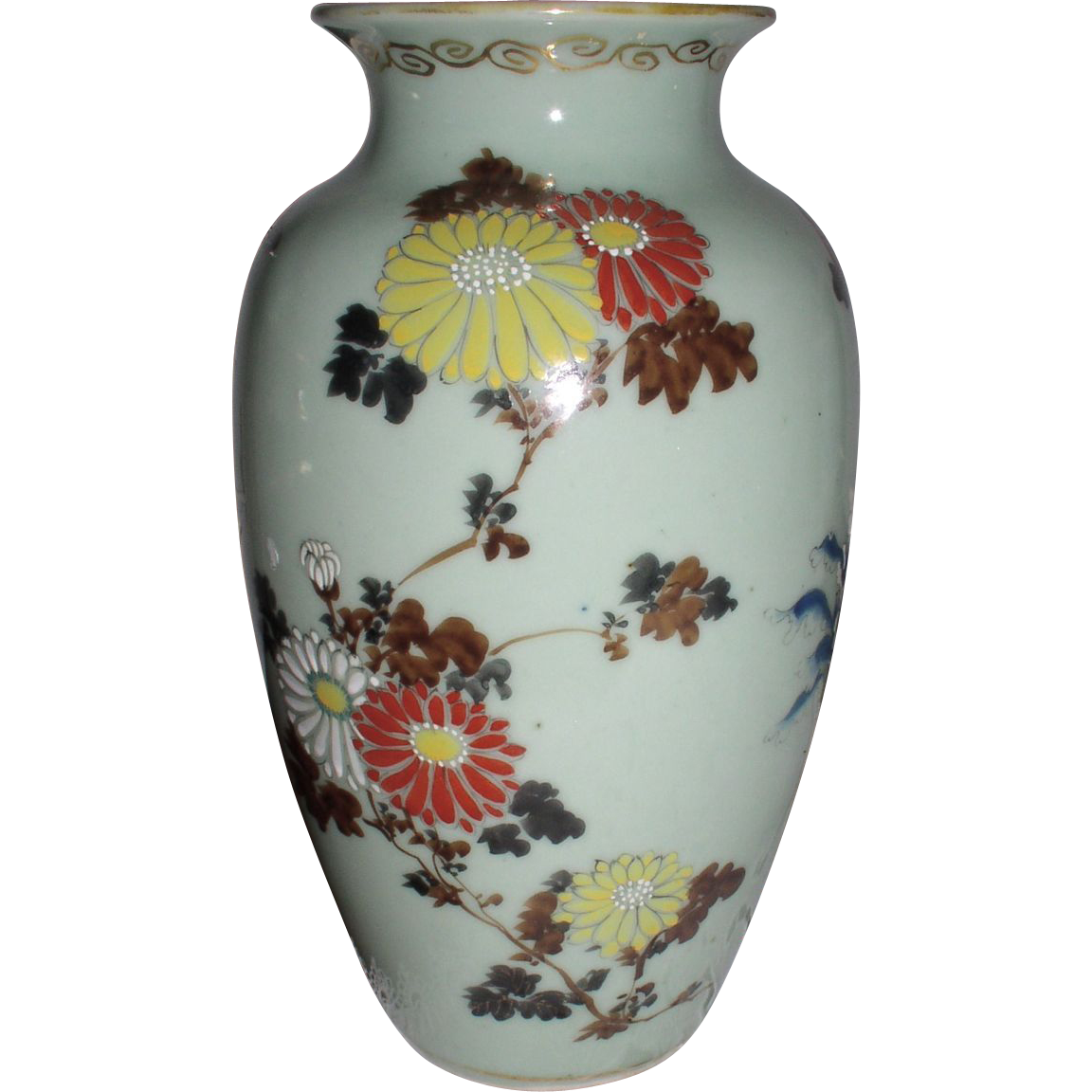 antique early chinese celadon porcelain vase from