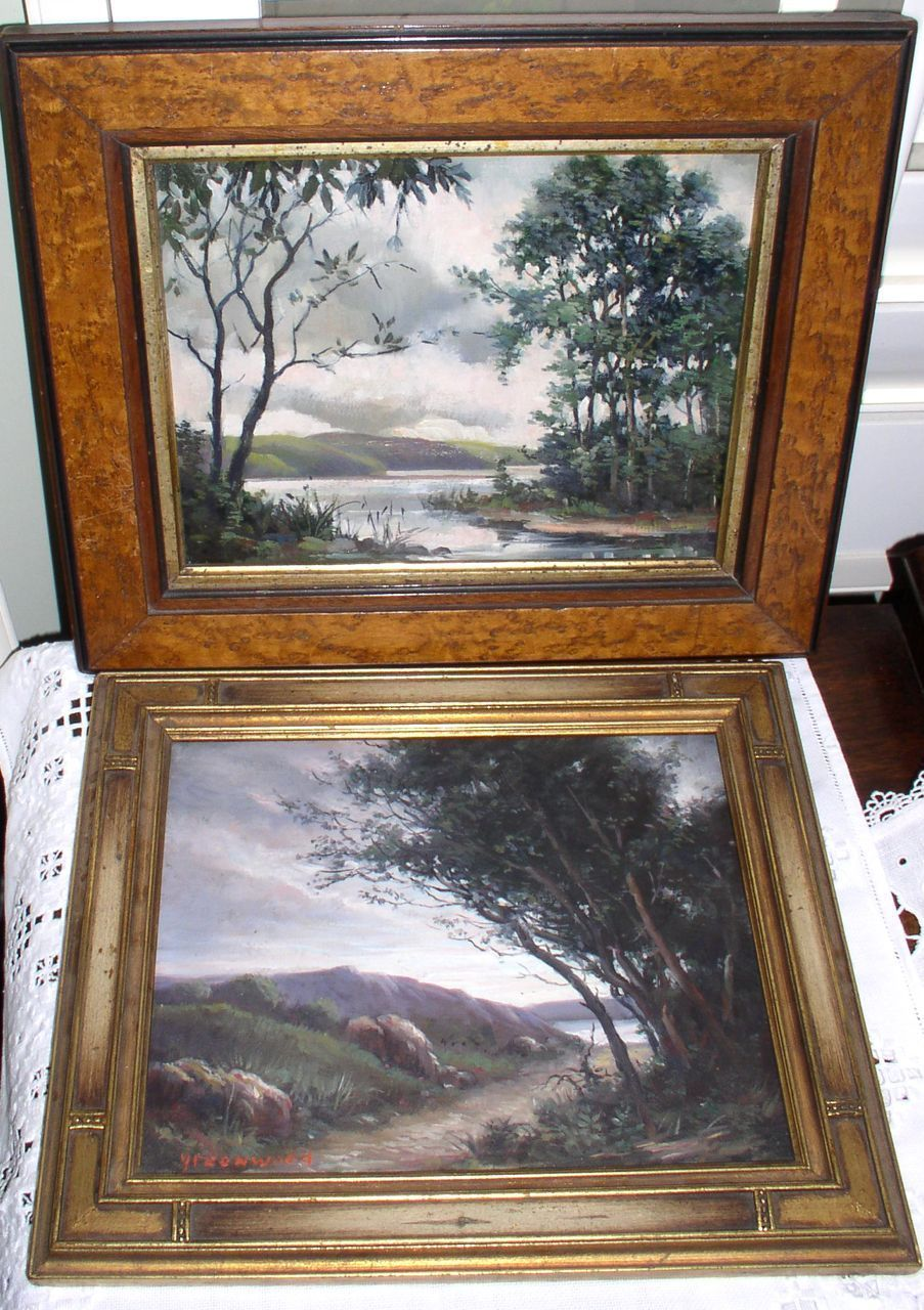 Antique Oil Paintings Listed Artist SGN Greenwood