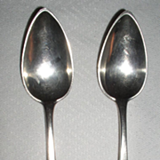 Antique 19th Century George ORR Sterling Silver Serving Spoons