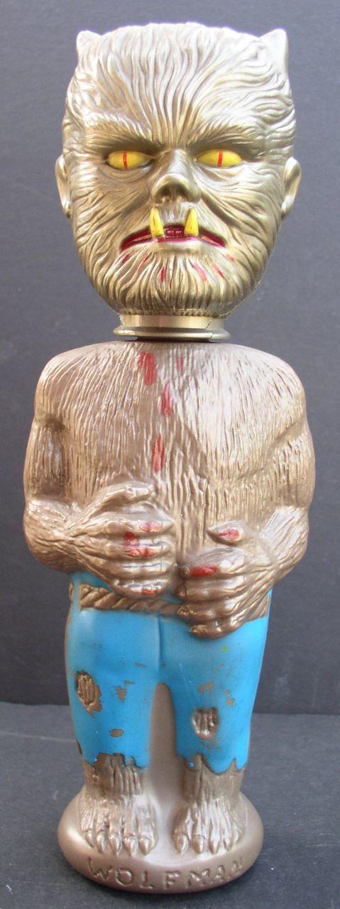 "WOLFMAN 1964 10"" tall Soaky Figural Plastic Bottle"