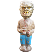 "WOLFMAN 1964 10"" tall Soaky Figural Plastic Bottle"