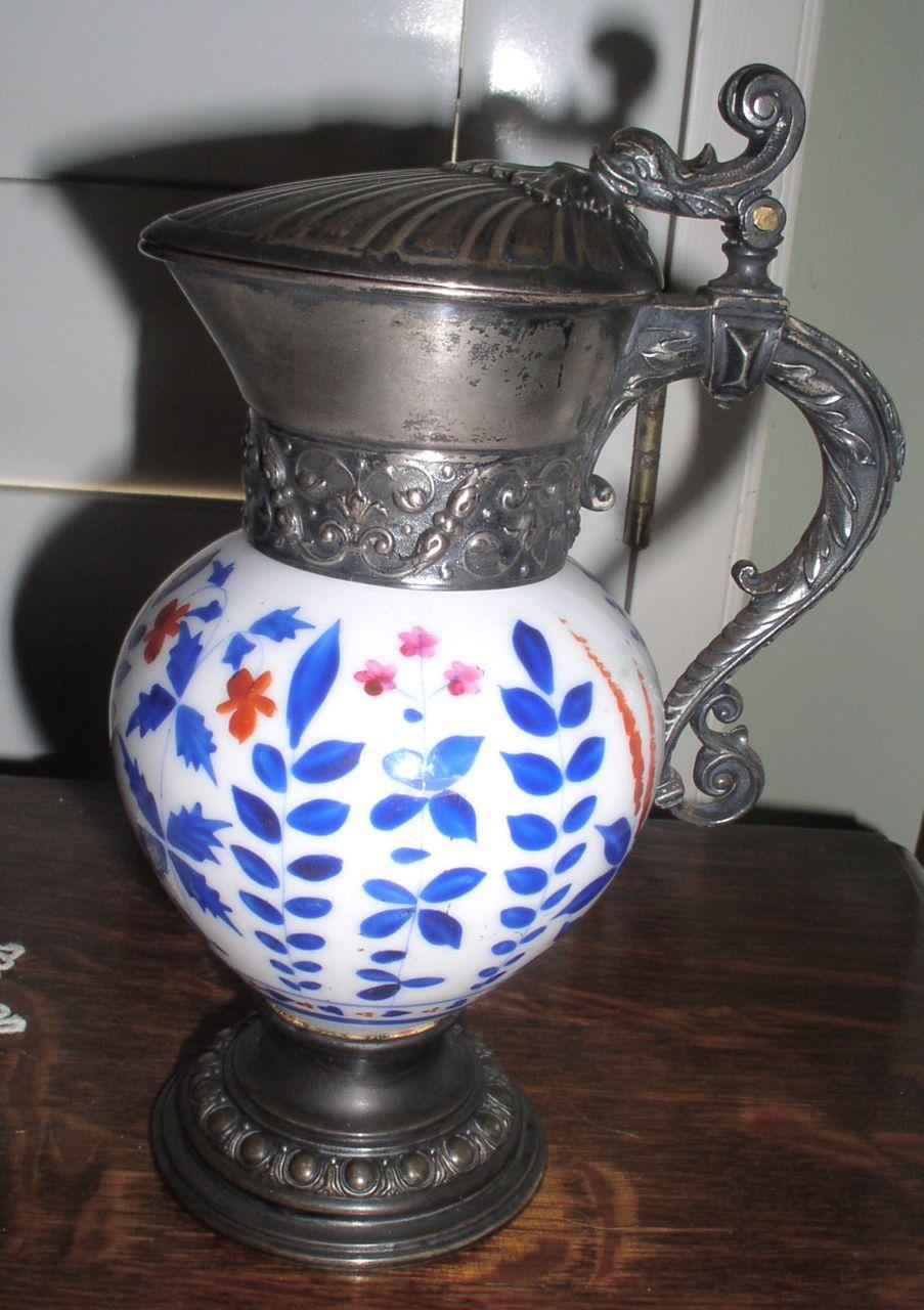 Early Sterling Silver and Porcelain Jug/Pitcher