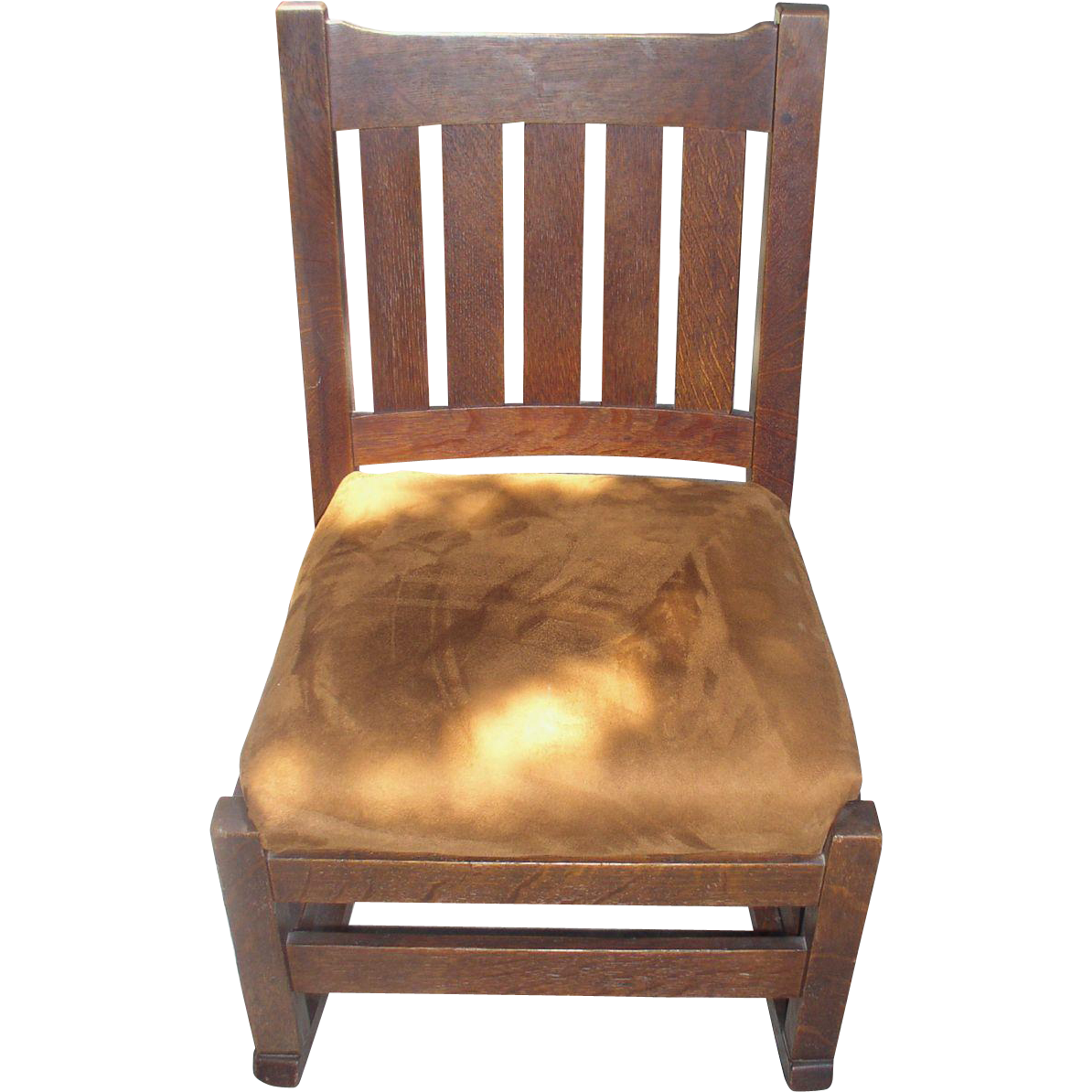 Mission Oak Sewing/Nursing Rocking Chair From Cali4nigrl On Ruby Lane. Full resolution  file, nominally Width 1194 Height 1194 pixels, file with #B27A19.