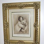 d. 1907 Original & Rare Steiff Teddy Bear Huge Advertising Piece for Department Store