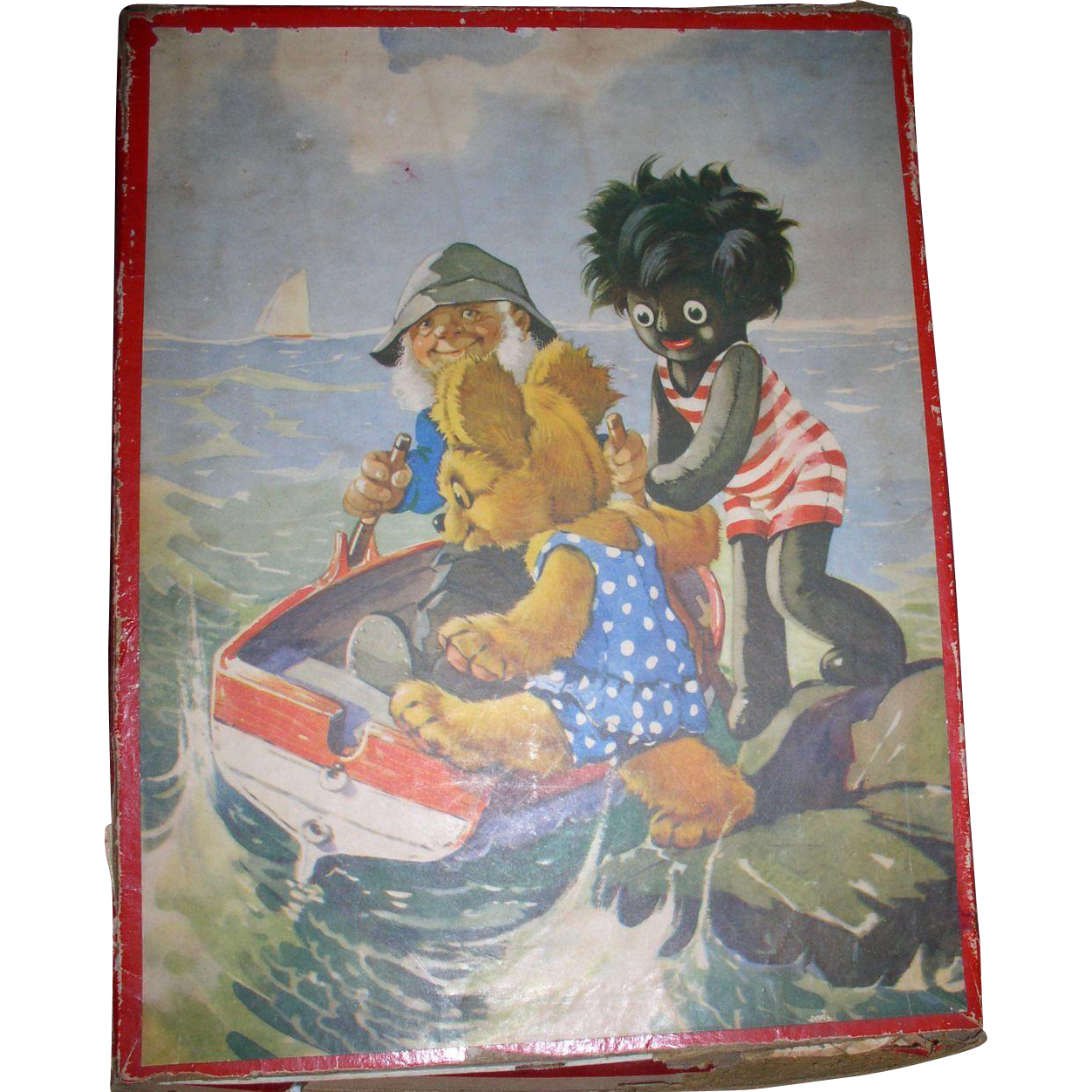 1930s Golliwog and Teddy Bear Puzzle in ORG Box