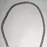 Stunning Vintage 14 kt 2.05 cart Diamond Bar Necklace