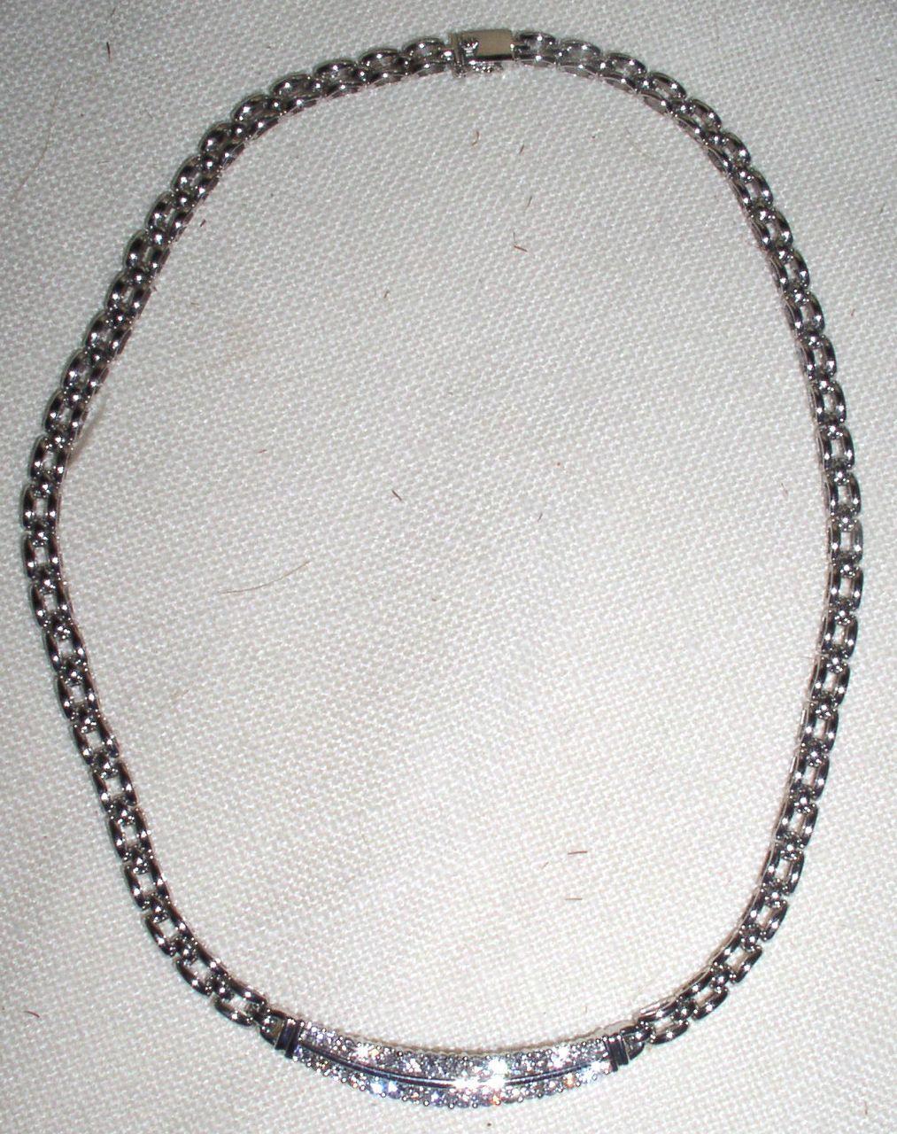 Stunning Vintage 14 kt 2.05 cart Diamond Bar Necklace