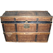 Antique Dome Doll Trunk with Lots of Doll Clothing #2