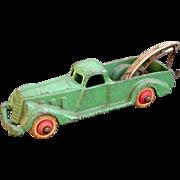 "Hubley Wrecker Truck 5-1/2"" long 1930's Pre-War Cast Iron Complete and nice!"