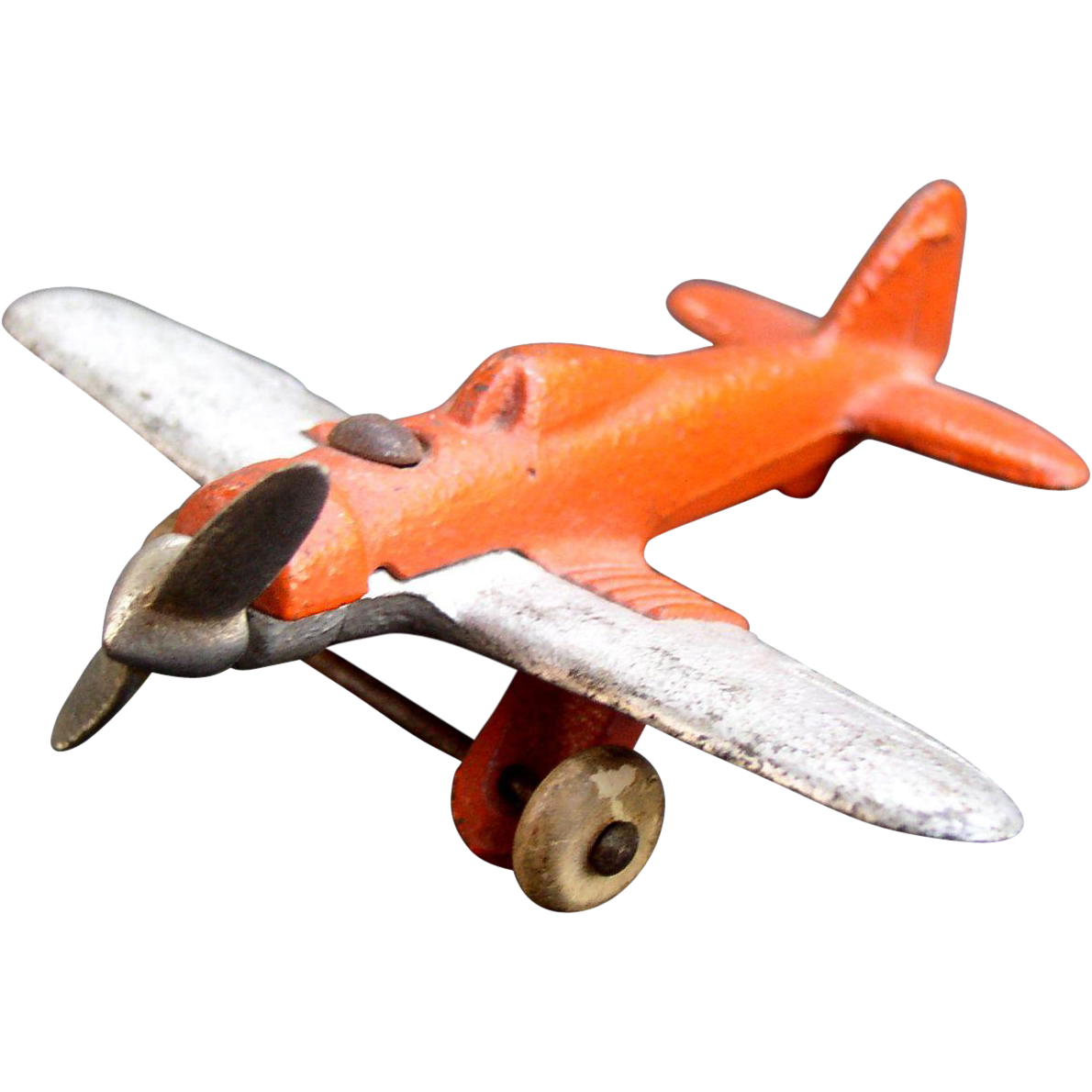 Airplane 1930's Hubley Cast Iron Monoplane Complete with nice paint