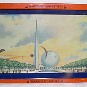 Vintage Art Deco 1939 New York World's Fair Tray- Trylon and Perisphere