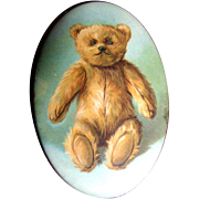 c. 1910 Early Teddy Bear Pocket Mirror