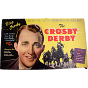 Bing Crosby Derby 1947 Horse Racing Board Game featuring Seabiscuit Beautiful Color!