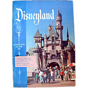 Disneyland 1956 Large Guidebook Full color with all Attractions Nice Copy!