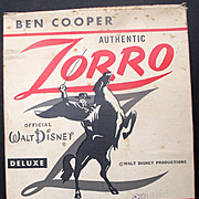 Zorro 1958 Walt Disney Ben Cooper Halloween Costume Box Fully Illustrated