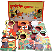 Popeye Boxed Game 1948 Very Colorful with all figures