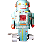 "Robot Wind-up Toy ""Mighty Robot"" N Toys Made in Japan Early 1960's"