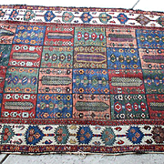 "Antique Early Hand Woven 7"" by 4"" KAZAK Rug"