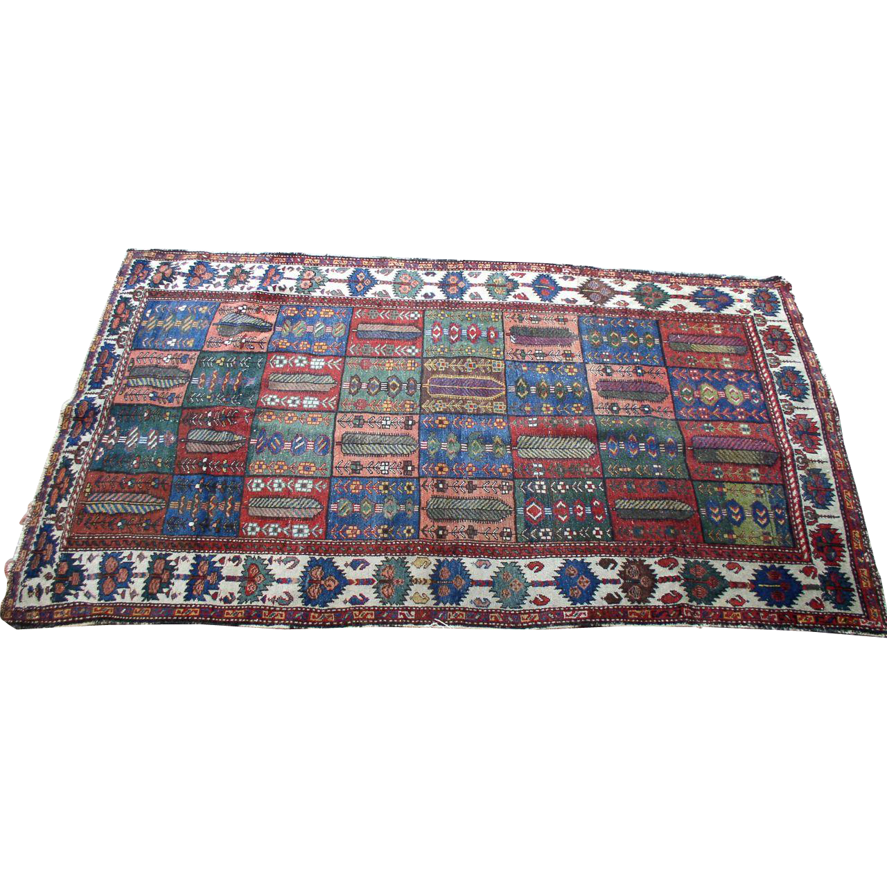 Antique Early Hand Woven 7'  by 4' KAZAK Rug