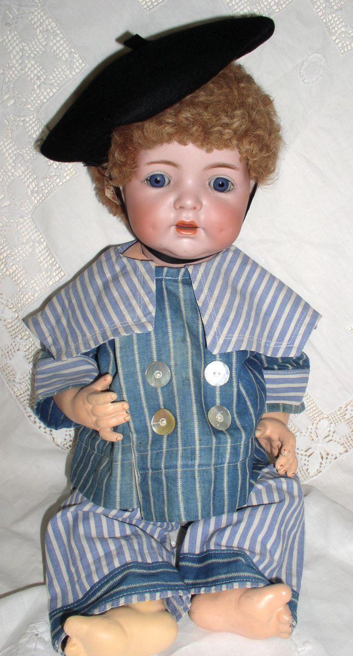 "Antique 19"" K*R Simon & Halbig #121 Toddler Boy Doll German Bisque Character"