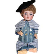 "Antique 19"" K*R Simon & Halbig #121 Toddler Boy Doll German Bisque Character"