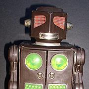 """Robot Tin Battery Operated Horikawa """"Attack Robot"""" Japan 1964"""