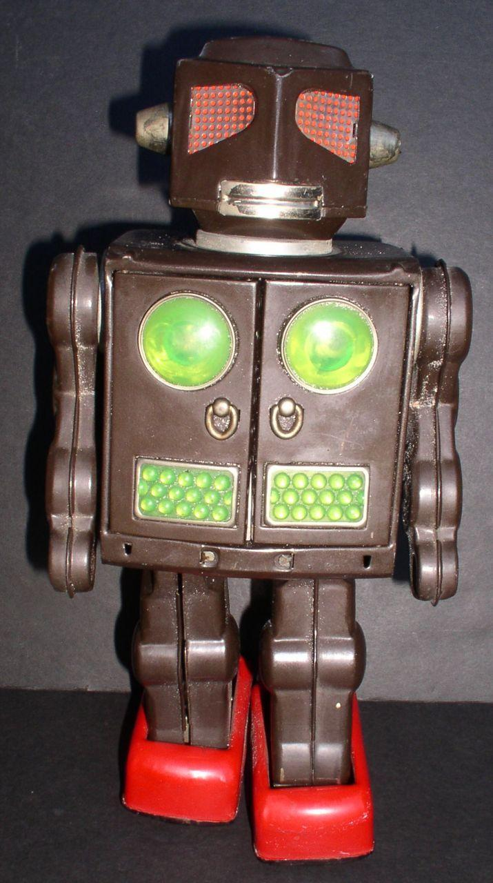 "Robot Tin Battery Operated Horikawa ""Attack Robot"" Japan 1964"