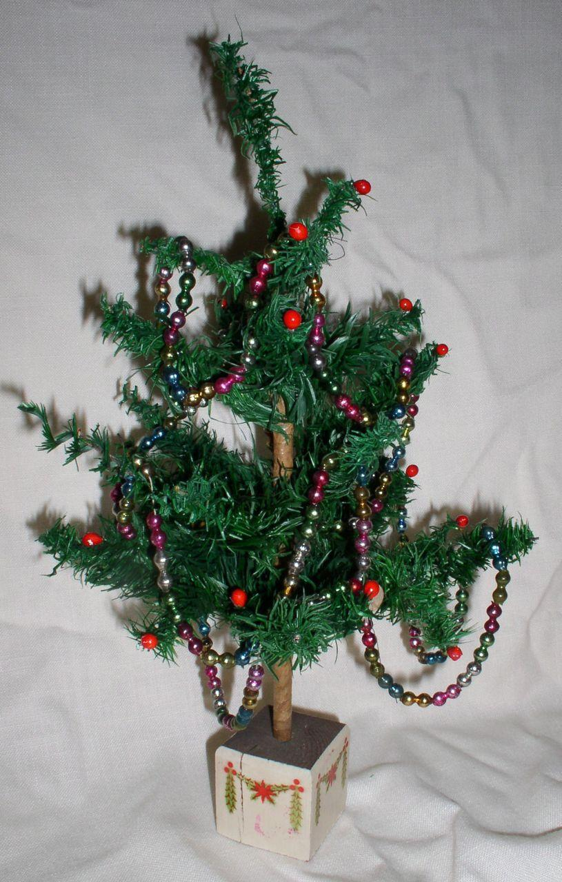 1920s Early German Feather Christmas Tree Made Exclusively for Macy's