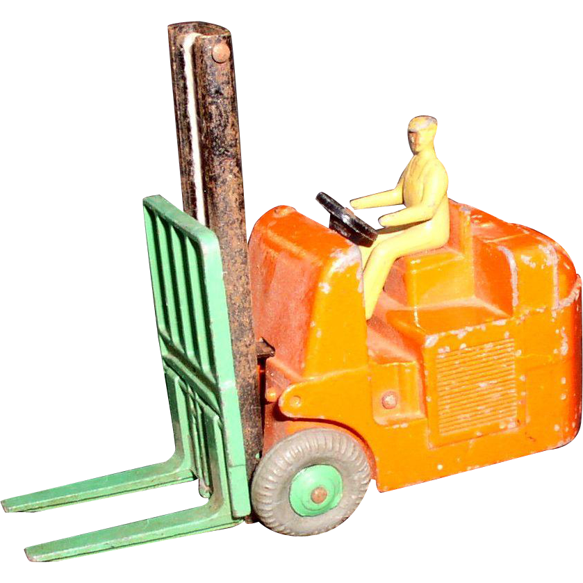 Dinky Coventry Fork Lift #014C 1950's Nice one