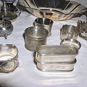 Early Sterling LOT of 21 Antique Sterling Silver Pieces