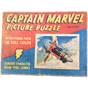 "Captain Marvel 1941 ""Rides the Engine of Doom"" Boxed Puzzle Complete!"