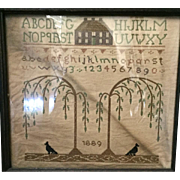 Dated 1889 Smail Child's Sampler