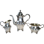 Elegant Antique Swedish Sterling Silver 3 PC Coffee or Tea Set