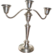 Beautiful Pair GORHAM Sterling Silver Candelabra Puritan 808/1 Candlesticks