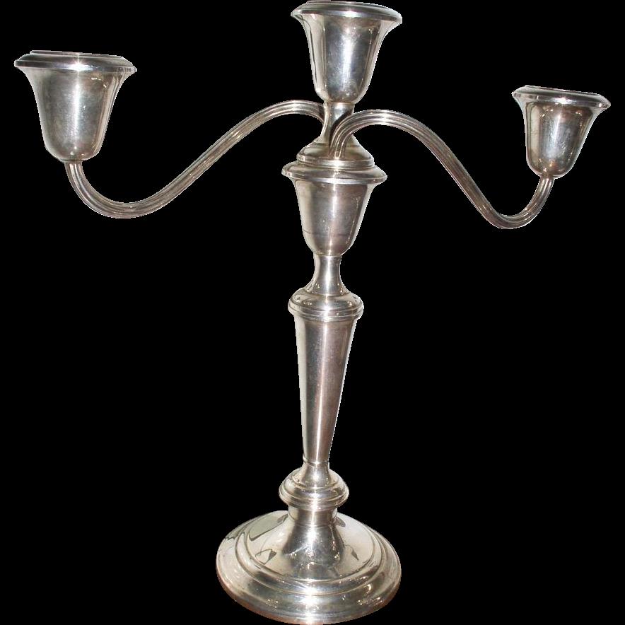 Beautiful Pair GORHAM Sterling Silver Candelabra Puritan 808/1 Candlesticks