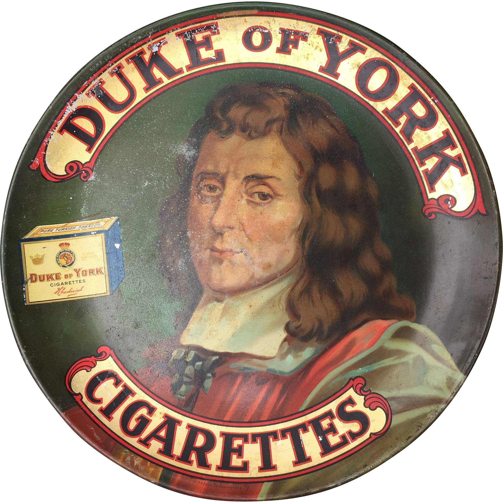 Duke of York Cigarettes Large Full Color Early Advertising Tray