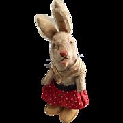 1958 - 1962 Steiff Nikili Girl Dressed Rabbit