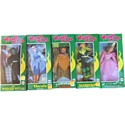 Wizard of OZ Set of 1974 Mego Dolls in Original Boxes