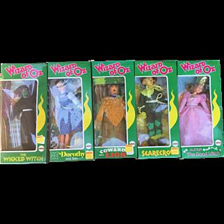 Wizard of OZ Set of 1974 Mego Dolls in Original Boxes