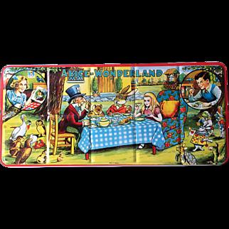 Alice in Wonderland Beautiful, Large Tin Litho 1960's Paint Set Un-used!