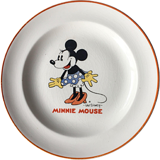 Minnie Mouse 1932 Child's Ceramic plate Patriot China