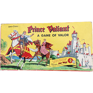 """Prince Valiant 1954 """"Game of Valor"""" Transogram Boxed Board Game Beautiful Art"""