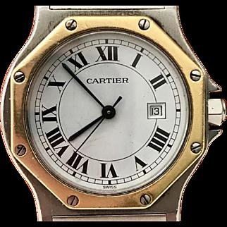 Vintage CARTIER Big Santos Manual Watch #296645302