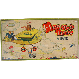HAROLD TEEN 1920's Comic Strip Character Board Game